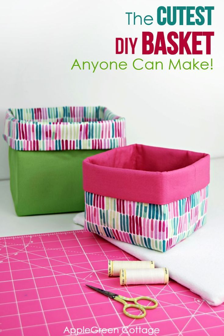 Anyone Can Make This Easy&Cute Basket!