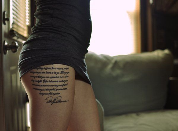 I believe that everything happens for a reason. People change so that you can learn to let go, things go wrong so that you appreciate them when they're right, you believe lies so you eventually learn to trust no one but yourself, and sometimes good things fall apart so better things can fall together. - 60 + Inspirational Tattoo Quotes  <3 !
