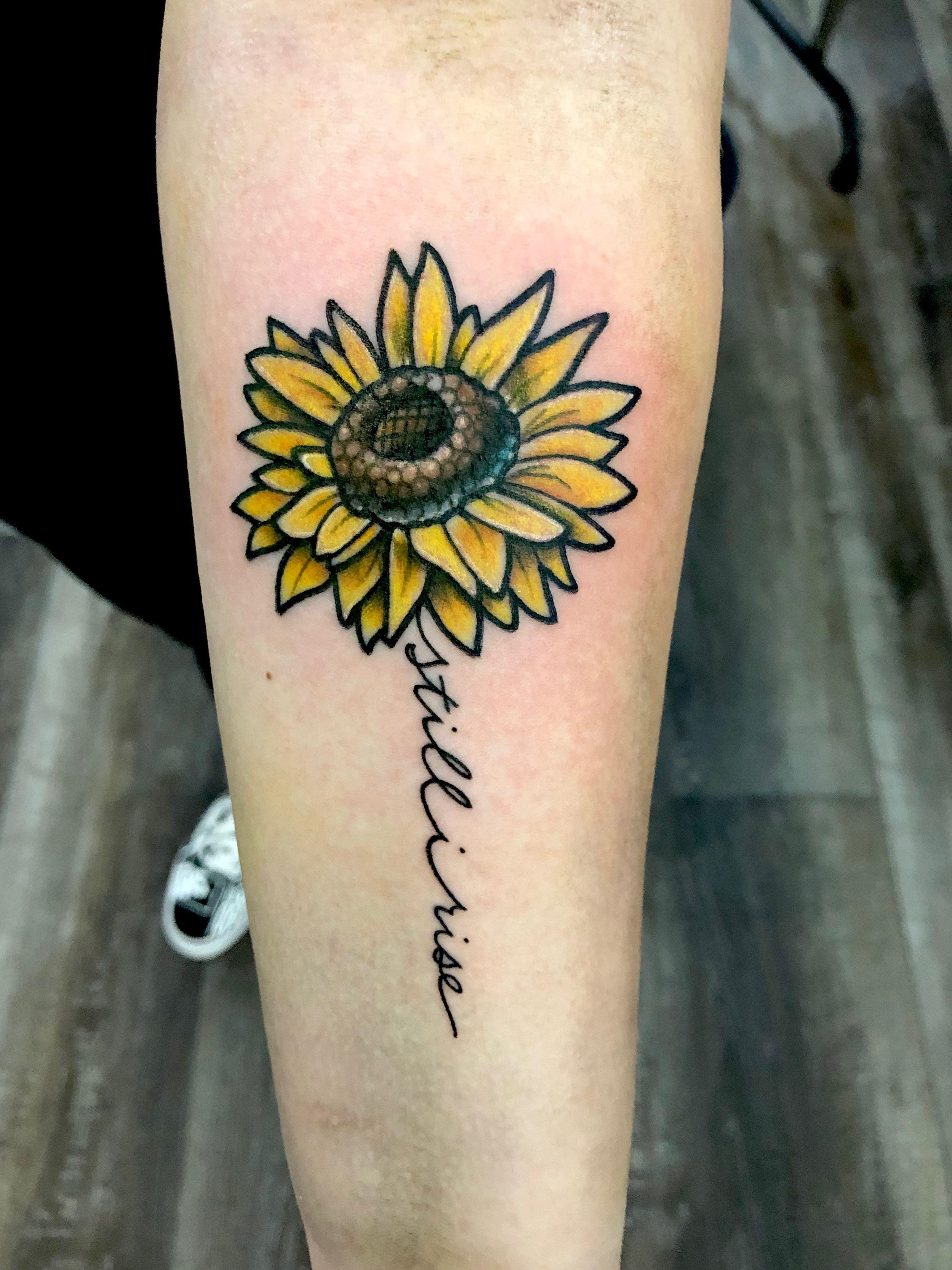 Still I Rise Sunflower Tattoo Chest Tattoos For Women Chest Piece Tattoos Fire Tattoo