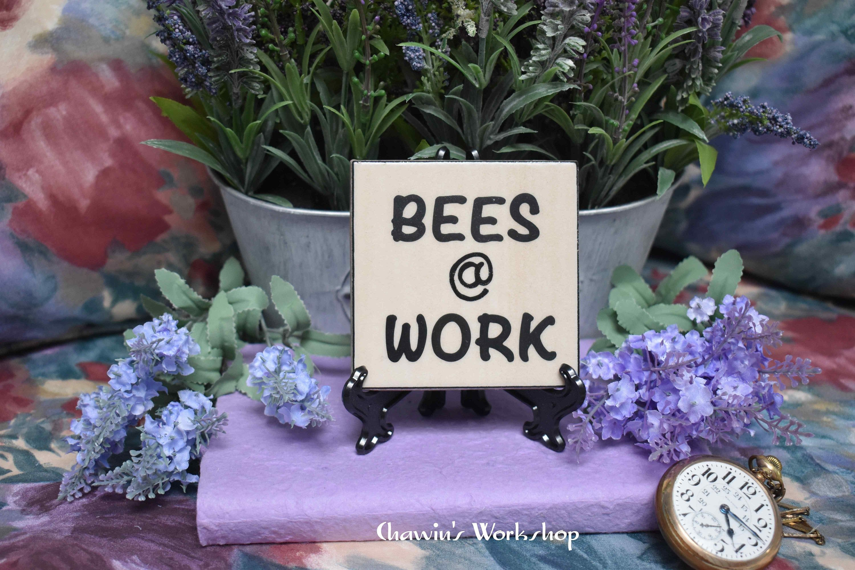 Bees Work Bee Garden Sign Gift For Gardener Father S Day