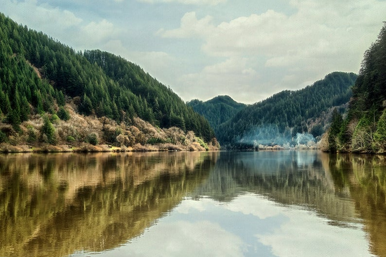 Oregon Landscape Photography Umpqua River Wall Decor