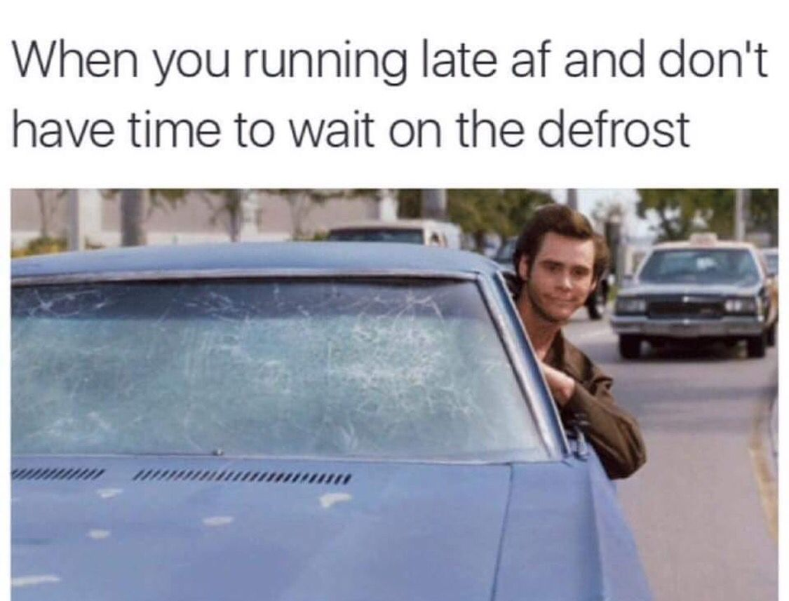 Funny Running Late Meme : When you re running late and don t have time to wait on