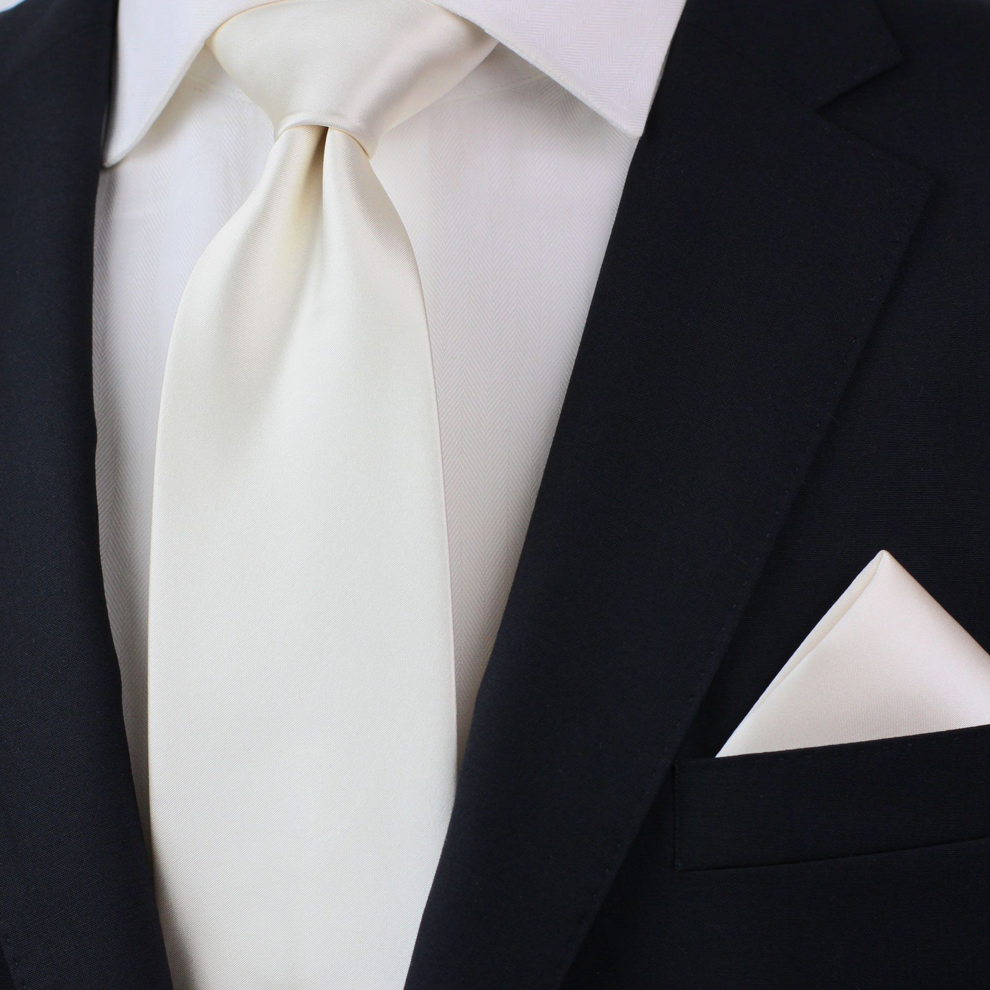 cafbcf3b8f88 Off-white cream necktie and pocket square | Ivory Wedding Color ...