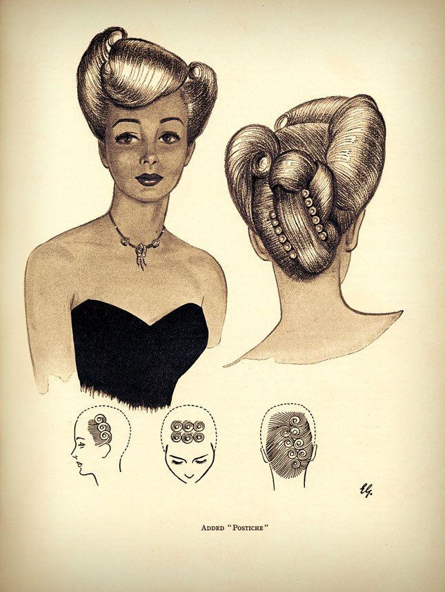 Vintage Hairstyle Illustrations