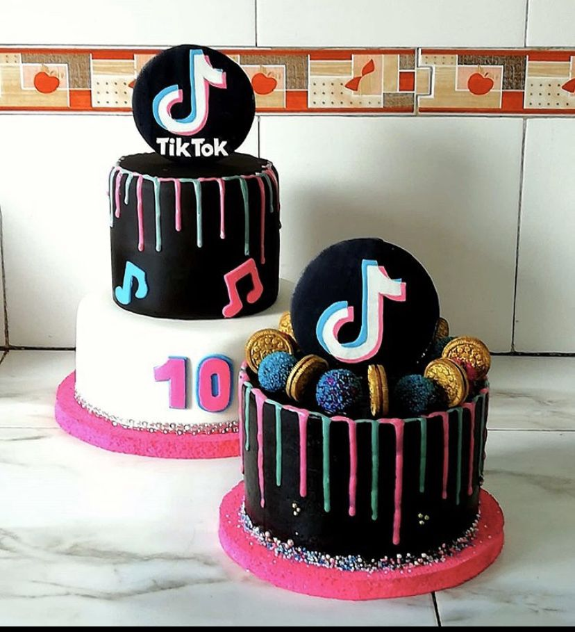 Pin By Isabel Segura On Cake Tick Tok In 2020 Unique Birthday Cakes Birthday Cakes For Teens Cake Designs Birthday
