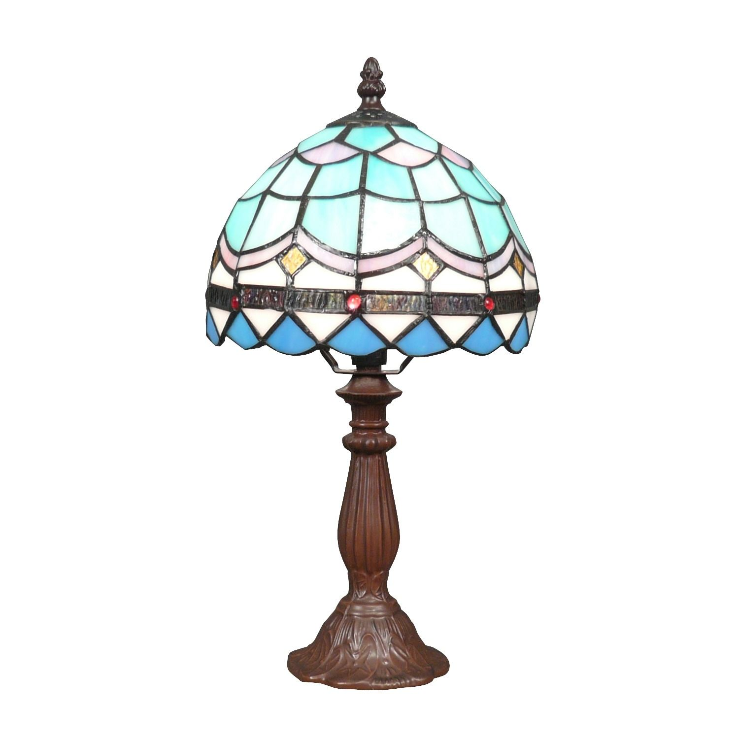 Mediterranean Blue Tiffany Lamp Tiffany Lamps Stained Glass Lamps Art Deco Lighting