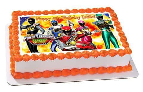 Power Rangers Birthday Cake.Power Rangers Dino Charge Edible Cake Topper Or Cupcake