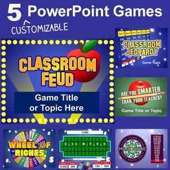 Powerpoint Games Pack - 5 Customizable Tv Game Show Templates