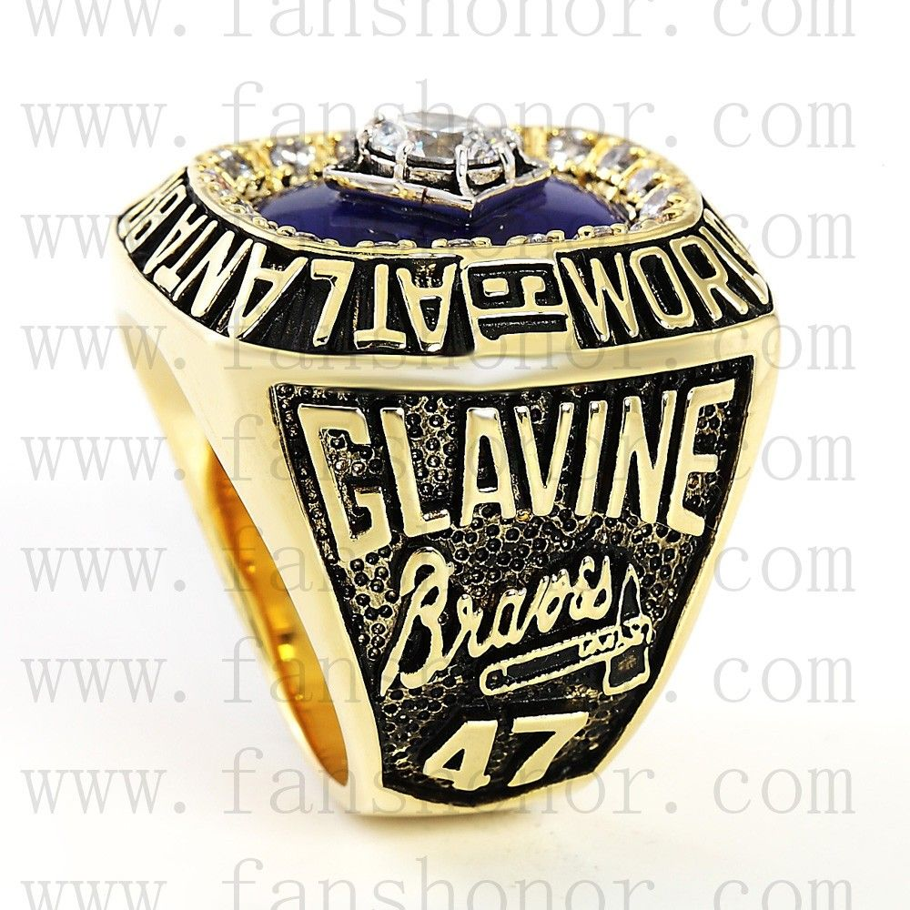 Customized Mlb 1995 Atlanta Braves World Series Championship Ring Atlanta Braves World Series Championship Rings Atlanta Braves