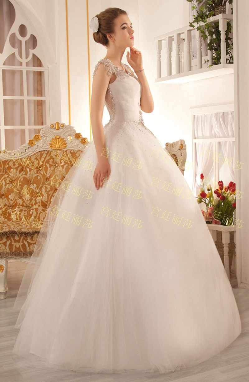 Ultimate luxury crystal wedding dress new arrival straps