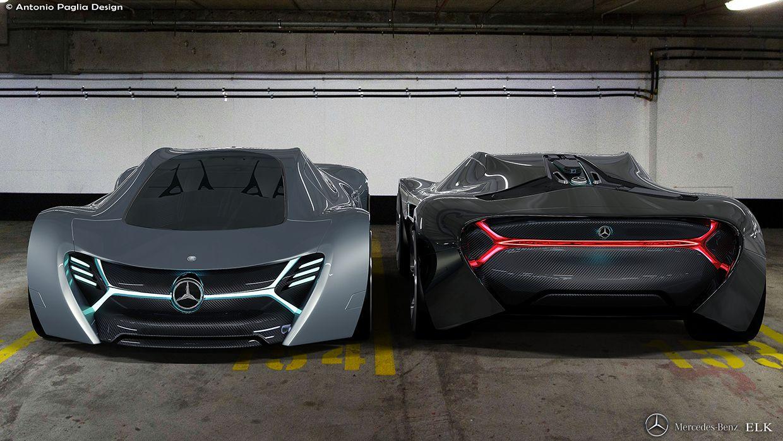 Mercedes Benz Elk Fits The Future Ev Supercar Bill Carscoops Electric Car Concept Concept Cars Mercedes Electric