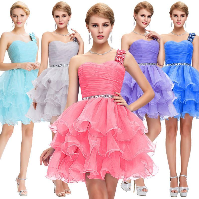 Ball Dress Evening Prom Cocktail Formal Karin Party Wedding Mini Beaded Short
