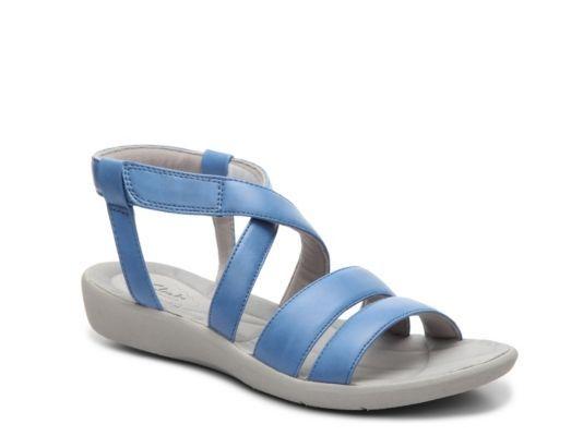 94d513f34e32 Women s Clarks Sillian Spade Wedge Sandal - Blue
