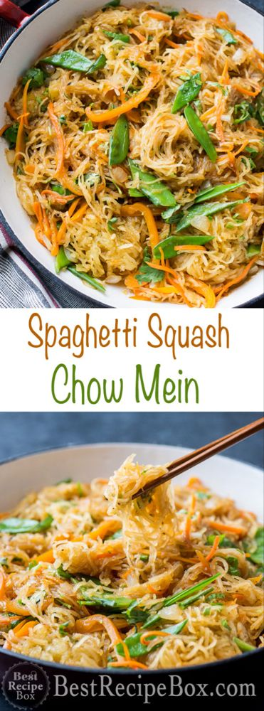Spaghetti Squash Chow Mein Recipe Healthy and Low Carb