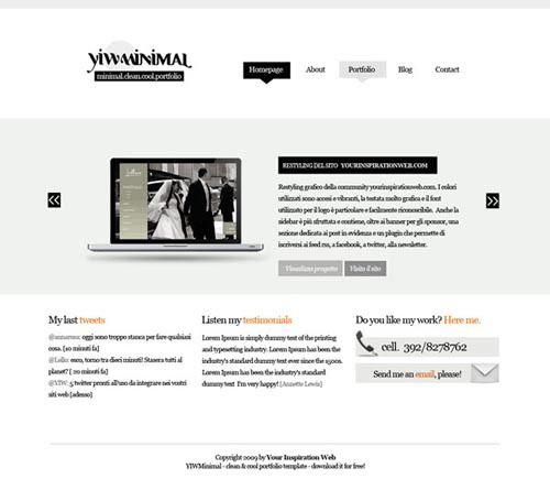 15 Free Portfolio HTML Website Templates. http://www.serverpoint.com ...