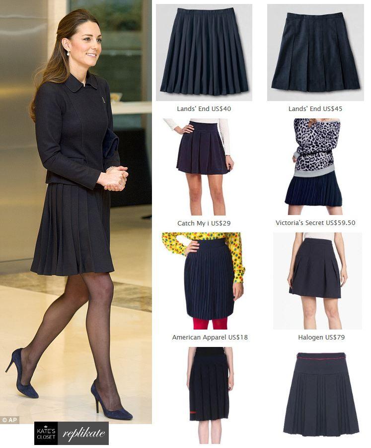 26e6dd45ea Kate Middleton style. Shop repliKates of the Orla Kiely pleated skirt