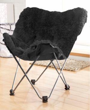 Pleasant Adrian Faux Fur Butterfly Chair Quick Ship Mongolian Theyellowbook Wood Chair Design Ideas Theyellowbookinfo