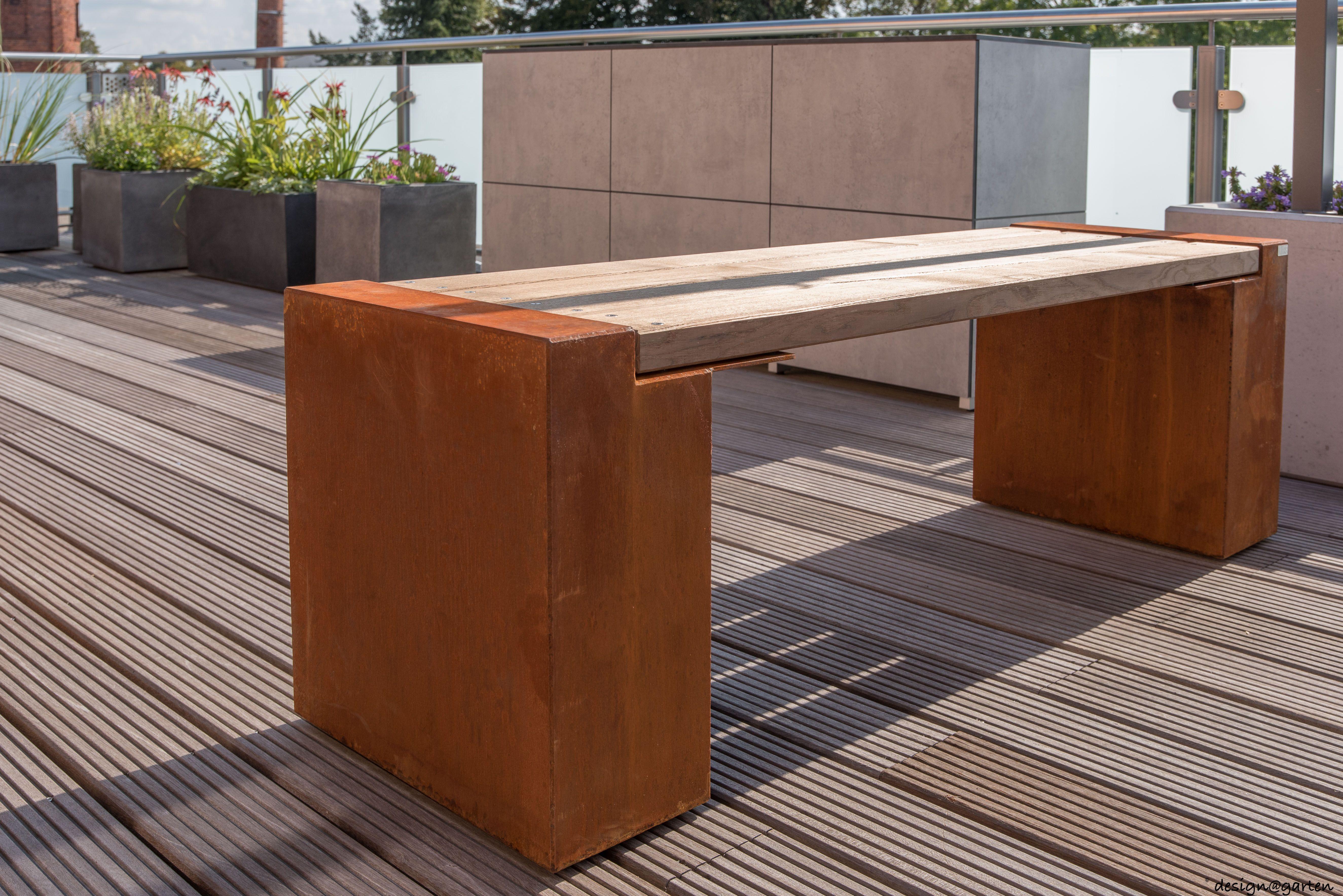 cortenstahl-bank von design@garten - augsburg, germany