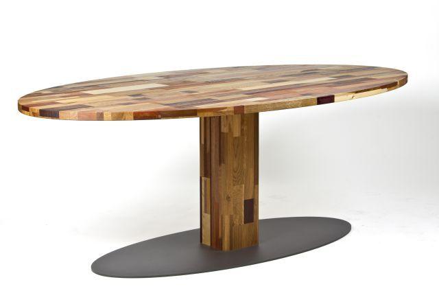 Brabants bonte kolommen tafel 240x130 cm in no waste hersos