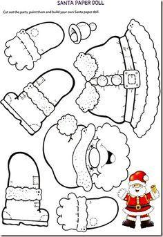 Santa Claus Craft Template | Diy Movil De Santa Claus Santa Claus Pinterest Santos