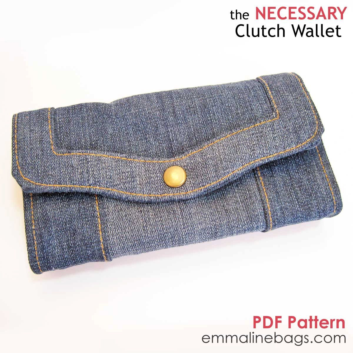 The Necessary Clutch Wallet PDF: A Large wallet with card slots and ...
