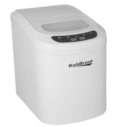 Koldfront Kim202 10 Wide 1 5 Lbs Capacity Portable Ice Maker With 26 Lbs Daily Ice Production White In 2020 Outdoor Kitchen Design White Refrigerator Appliance Sale
