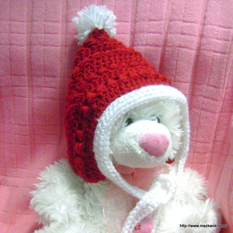 Christmas Baby Pixie Hat The Yarn Box Crochet Baby And Kids