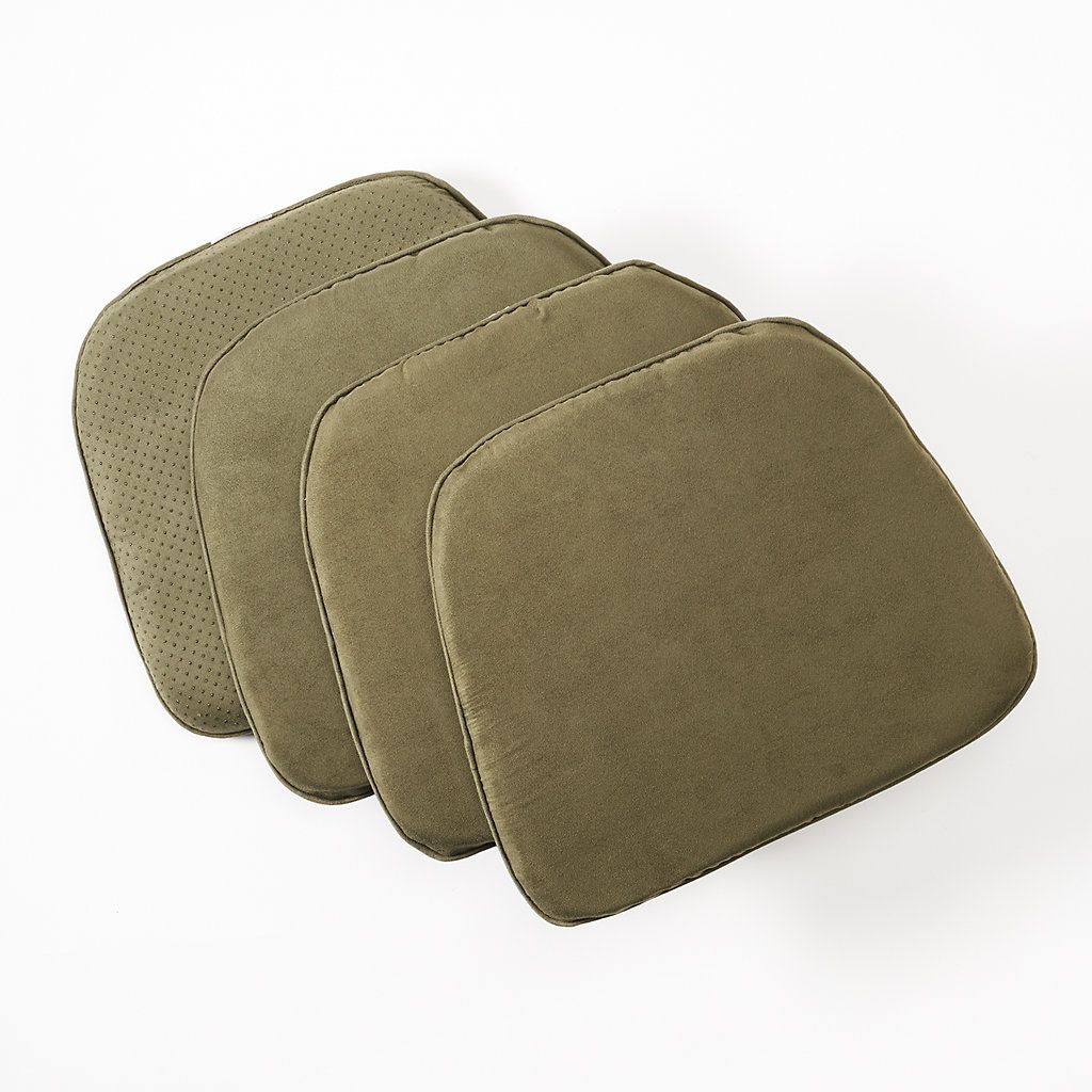 Sensational Doeskin Faux Suede Chair Pad 4 Pack Deserts Chair Pads Pabps2019 Chair Design Images Pabps2019Com