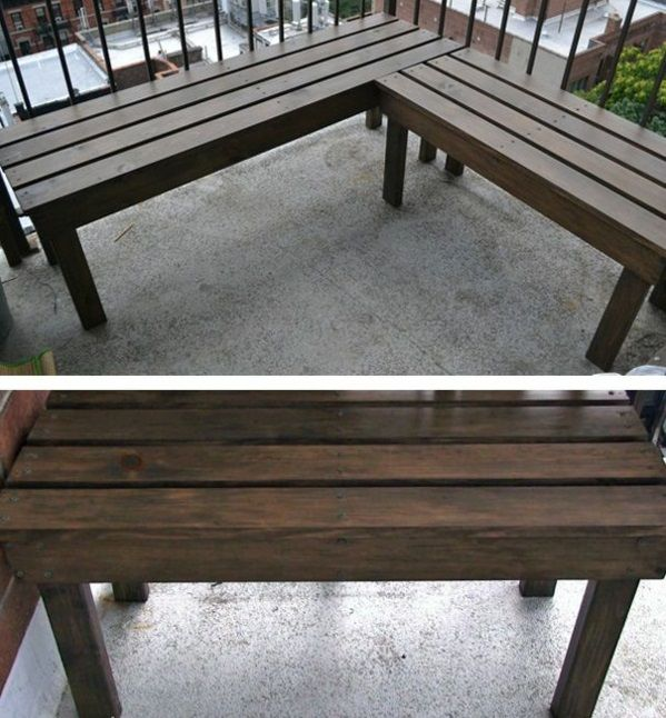 diy projekte sitzbank selber bauen Balkon Ideen Pinterest DIY