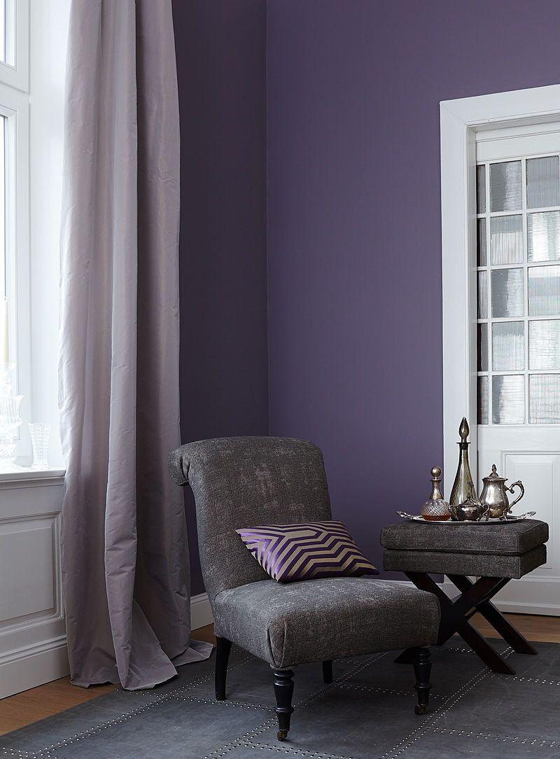 Farb Wirkung Von Violett Im Raum Alpina Farbe Wirkung Lila