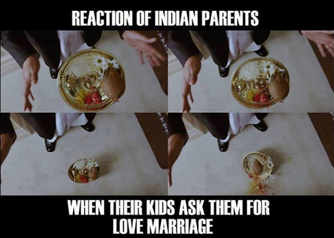 Parents Reaction For Love Marriage Of Their Children Very Funny Memes Funny School Memes Indian Funny