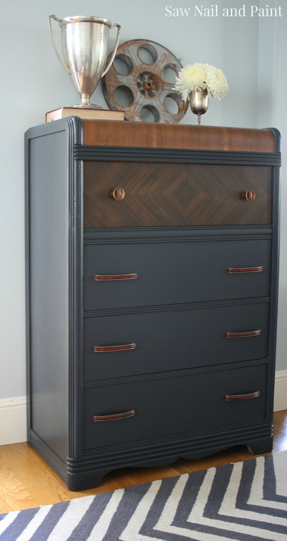 Waterfall Dresser Furniture Makeover