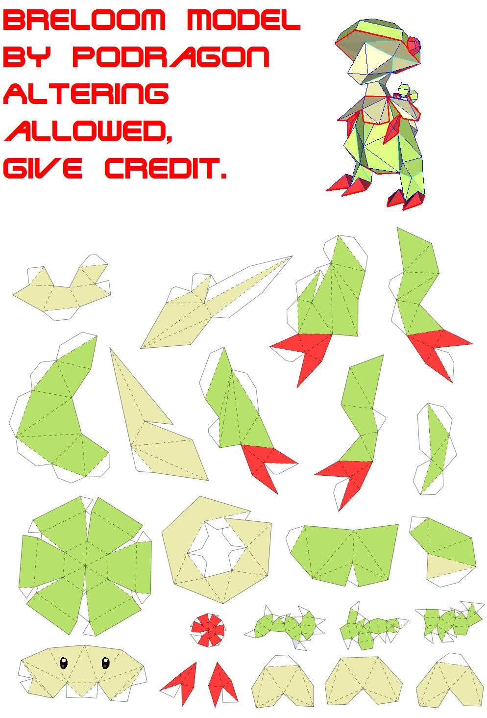 Pokemon Papercraft Templates Easy Pokemon Papercraft Http