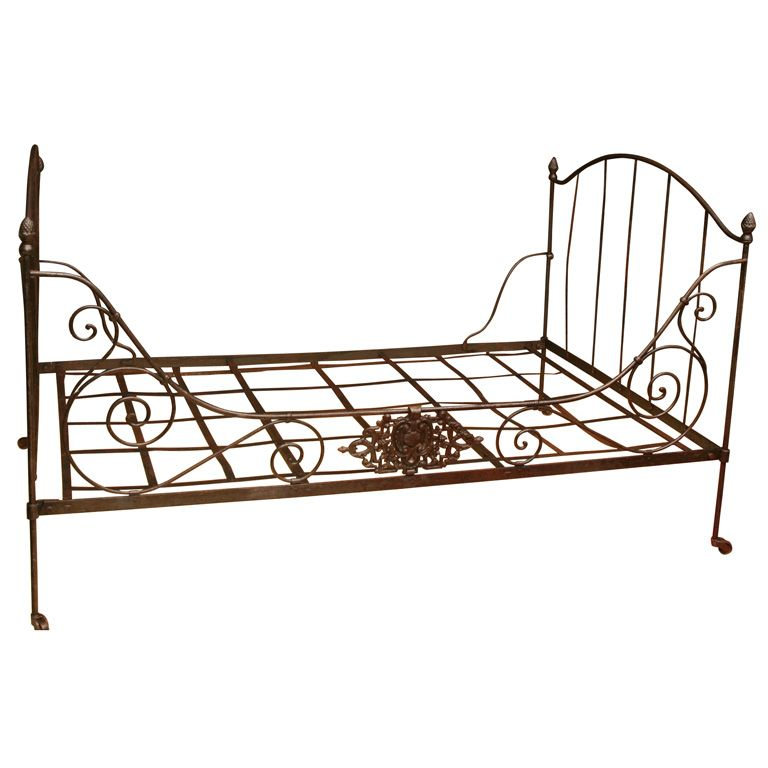 French 19th Century Folding Iron Bed The French Army Created These For Their Officers On Military Campaigns French Country Bedrooms Metal Daybed Modern Bed