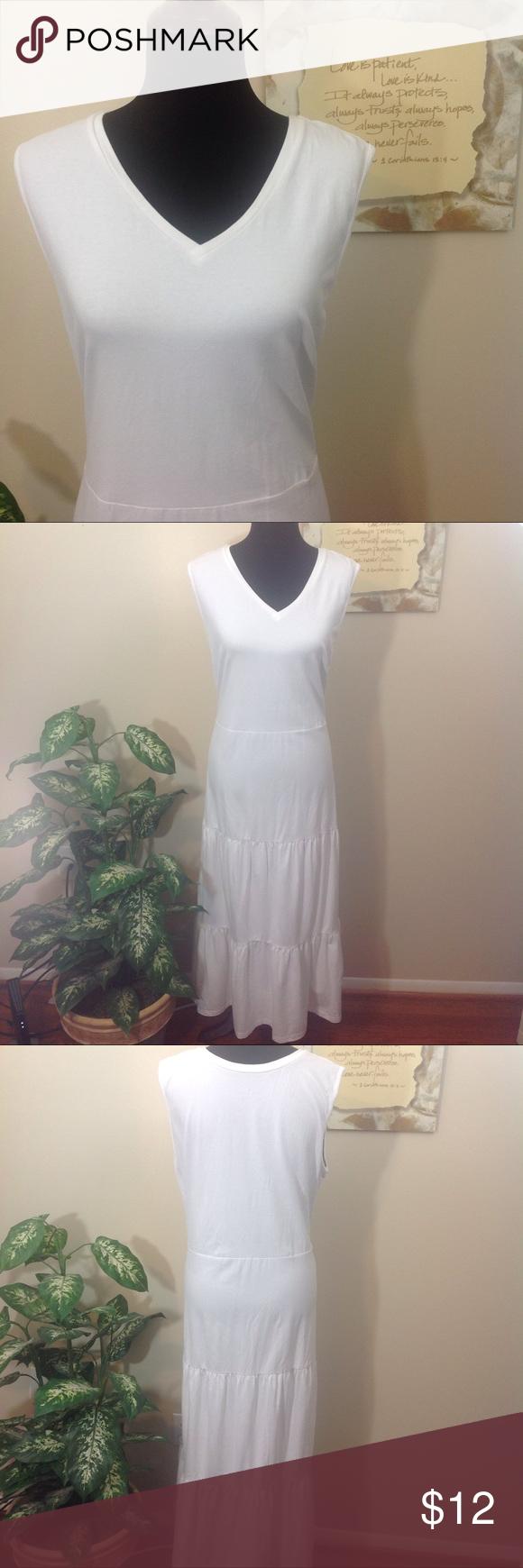 D Co White Sleeveless Maxi Dress Xl Sleeveless Maxi Dress Sleeveless Maxi Dress [ 1740 x 580 Pixel ]