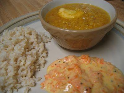 Yellow squash Dalcha - made this with Zucchini squash -  from Madhur Jaffrey's World Vegetarian