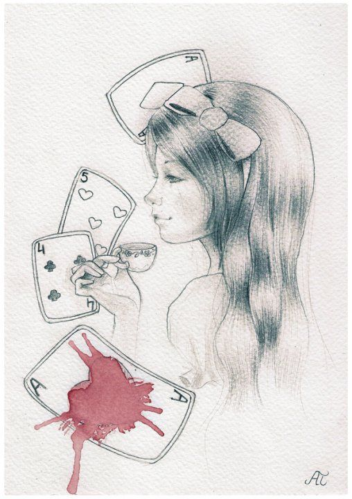 ' Alice in wonderland '  by Ania Tomicka