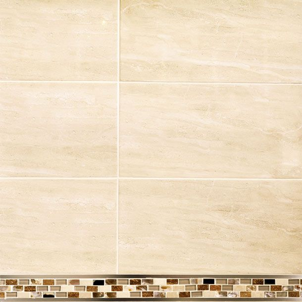 The Balmoral Mid Beige Is A Inkjet Gloss Finish Travertine Effect Wall Tile  By British Ceramic Tile.