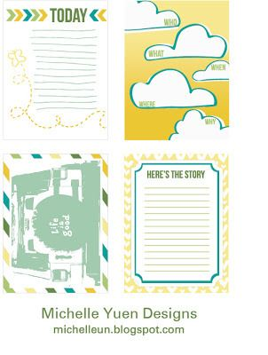 Free Nifty Project Life Journaling Cards