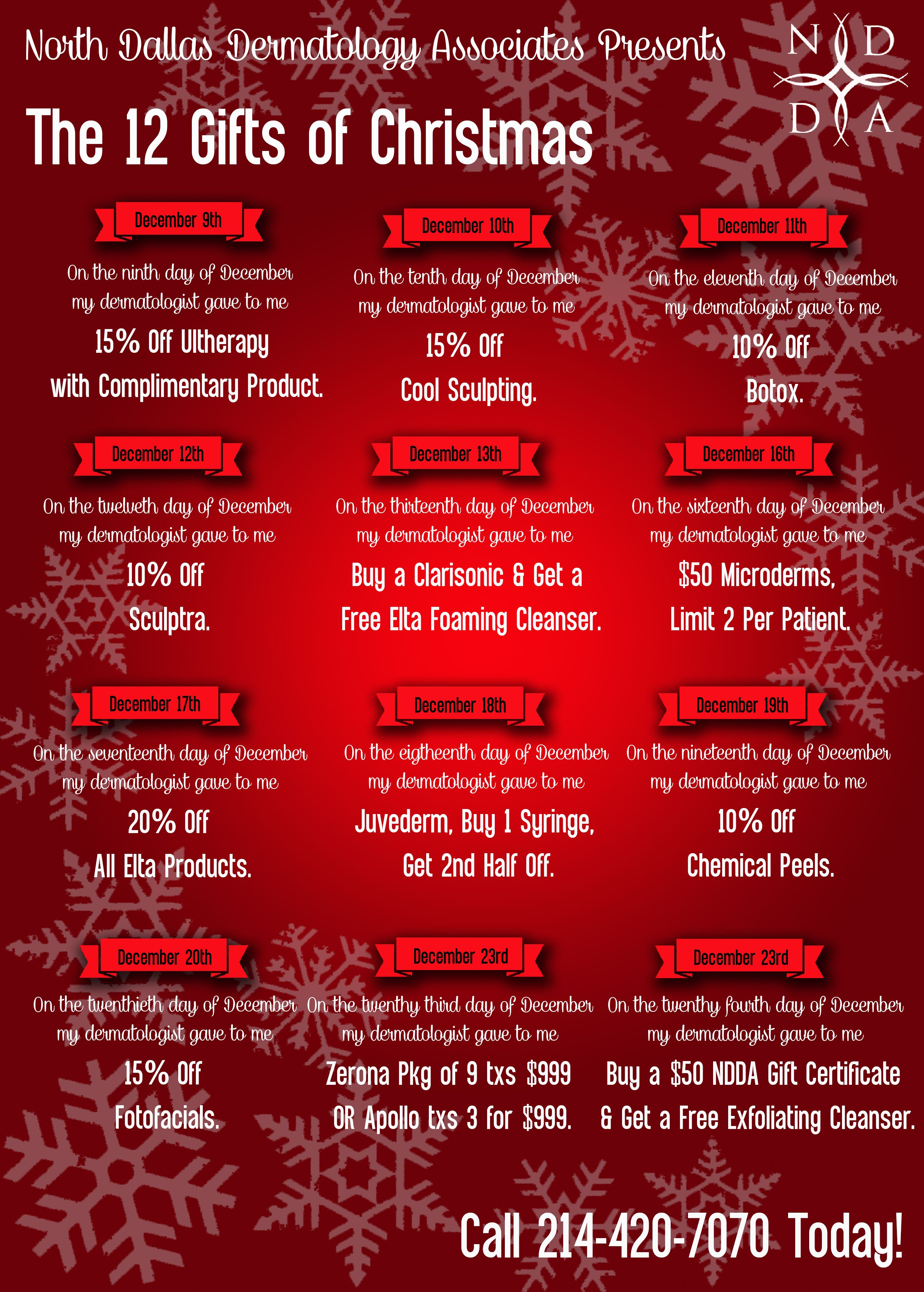 Salon But Promo To Take Advantage Of Our Quot12 Days Of Christmas Quot Promotions