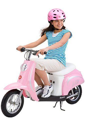 Razor Pocket Mod Bella 24v Electric Girl Scooter Pink 15130610
