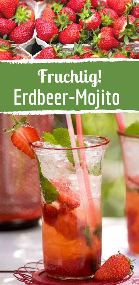 Sommer-Cocktail: Fruchtiger Erdbeer-Mojito