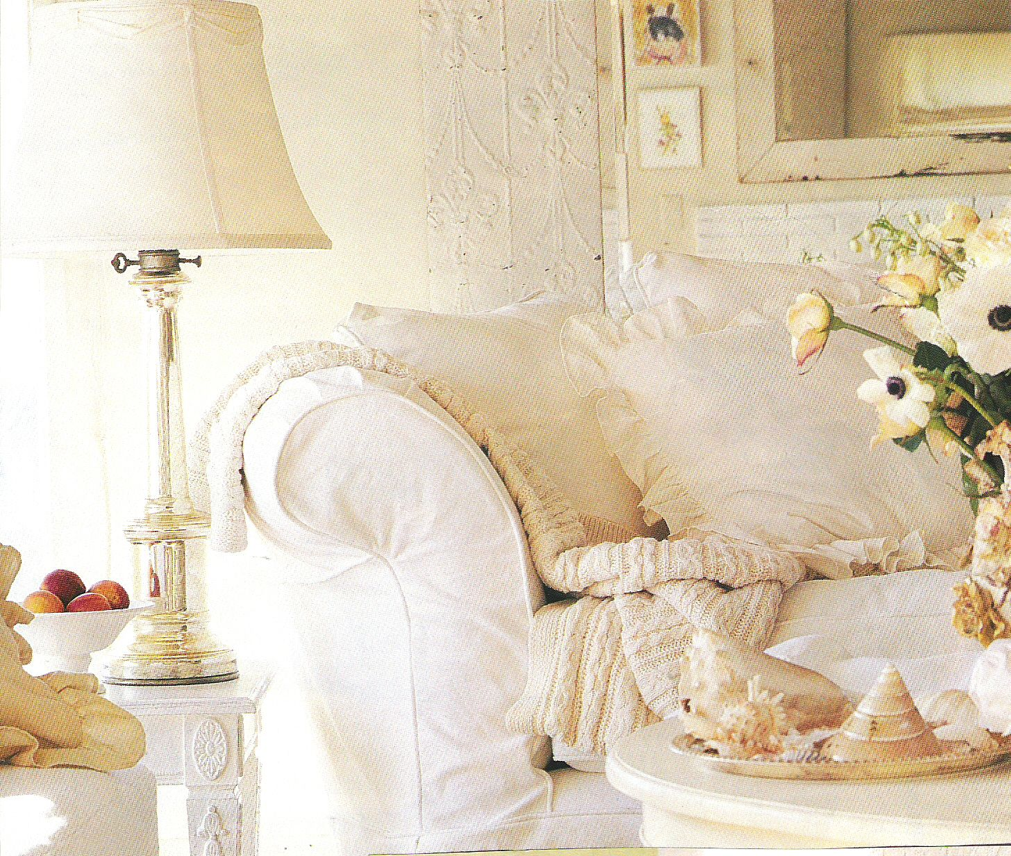 Cream And White Living Room