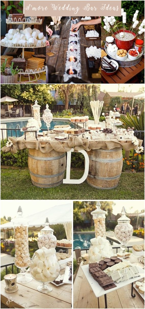 20 Best Of Smore Bar Wedding Food Station Ideas Rustic Wedding
