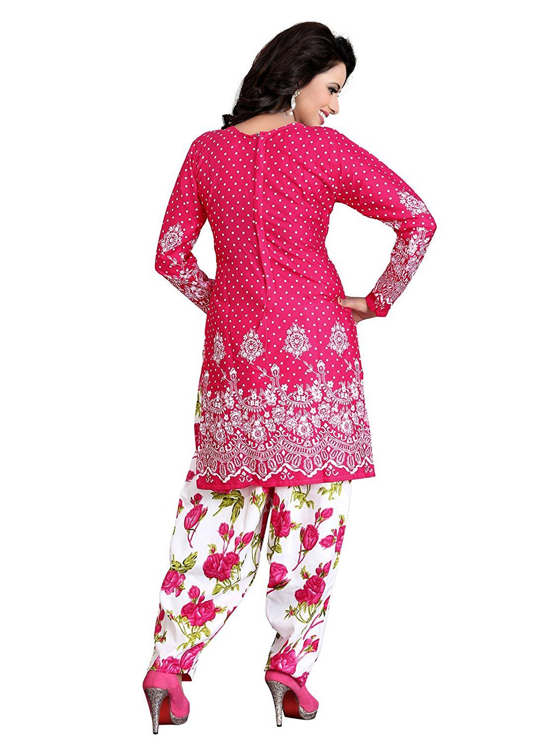 2bac9f38d4 KESU FASHION womens Crepe Pink Dress Material_Free Size_KUSSC1083E:  Amazon.in: Clothing & Accessories