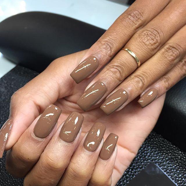 Coffee Colored Nails Laquenailbar Fallnails