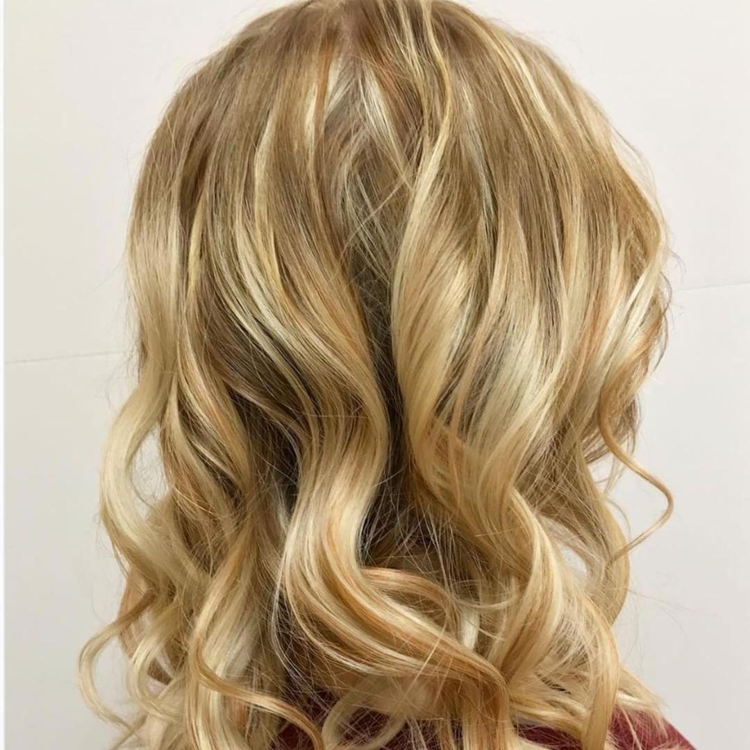Blonde Blonde Blonde Blonde Hair Color With Strawberry Blonde Lowlights From Smartstyle Stylist Blonde Hair Color Blonde Color Hair Color For Brown Skin