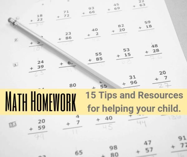 Math homework help parents
