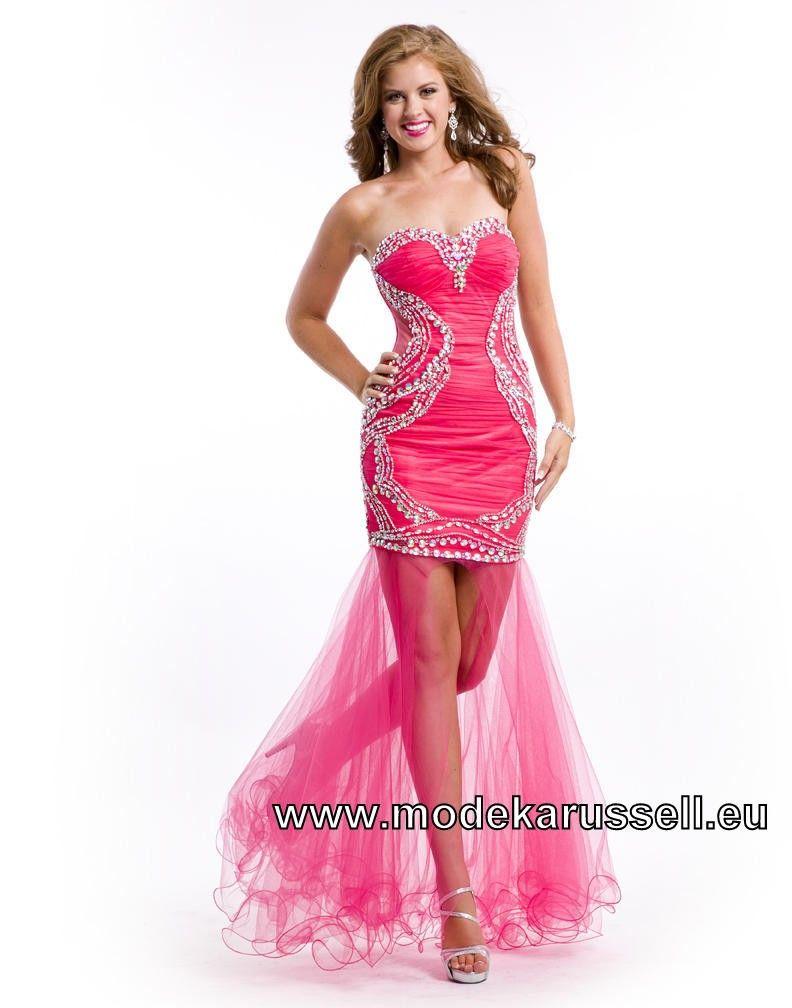 Pinkes Tüll Vokuhila Abendkleid | Prom dresses, Beautiful ...