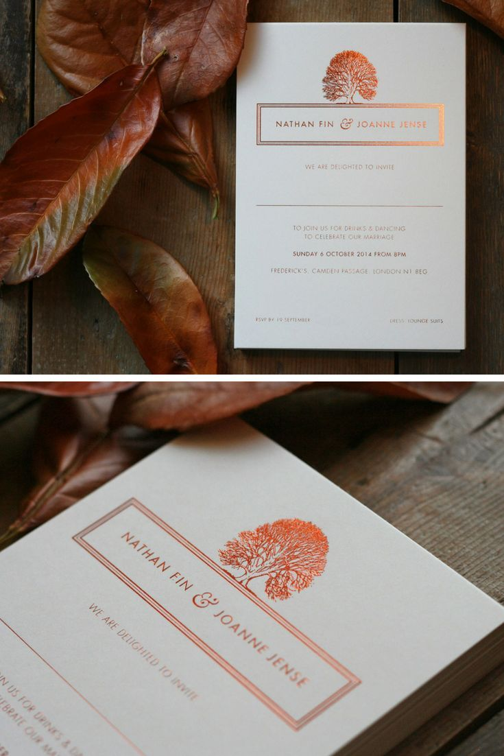 Wedding decorations set october 2018 Bespoke Wedding Stationery Design UK in   Foil Wedding